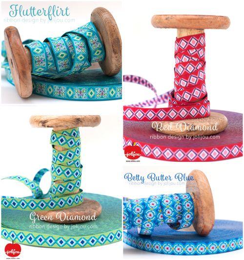Flutter by Jolijou, farbenmix.de ribbons #ribbons #sewing #farbenmix #webbänder