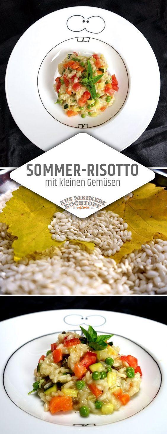 Obwohl Sommerhitze scheinbar nicht das richtige Wetter für ein Sommer-Risotto ist, passt es mit kleinen Gemüsen hervorragend in den Speiseplan. Summer Risotto, Sommerrisotto, Summerrisotto