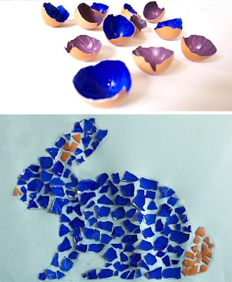 egg shell mosaic
