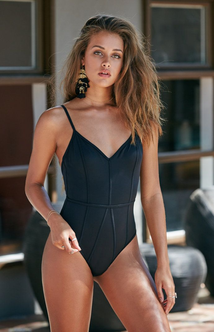 Binding One Piece Swimsuit