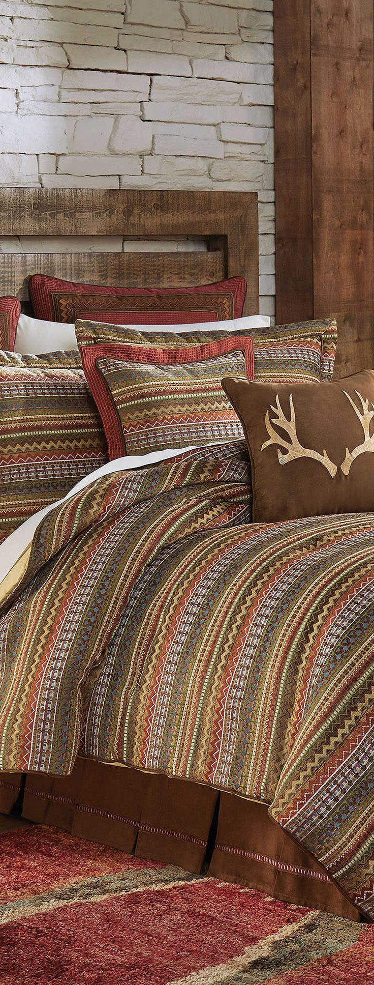 Brown bed sheets texture - Croscill Rustic Bedding