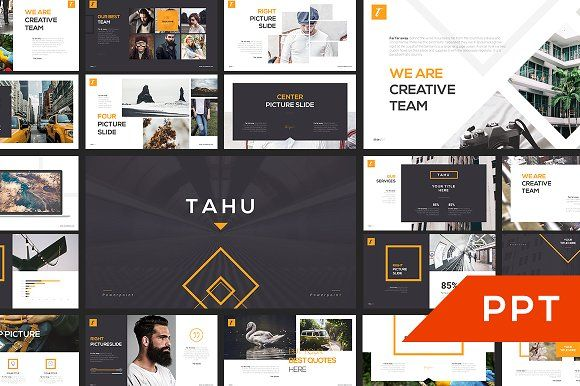 Ad: TAHU PowerPoint Template - Presentations. An unique presentation template for commercial enterprise or personal use, one of creative industry, business, technology and many more. #powerpoint #presentation #slide $20