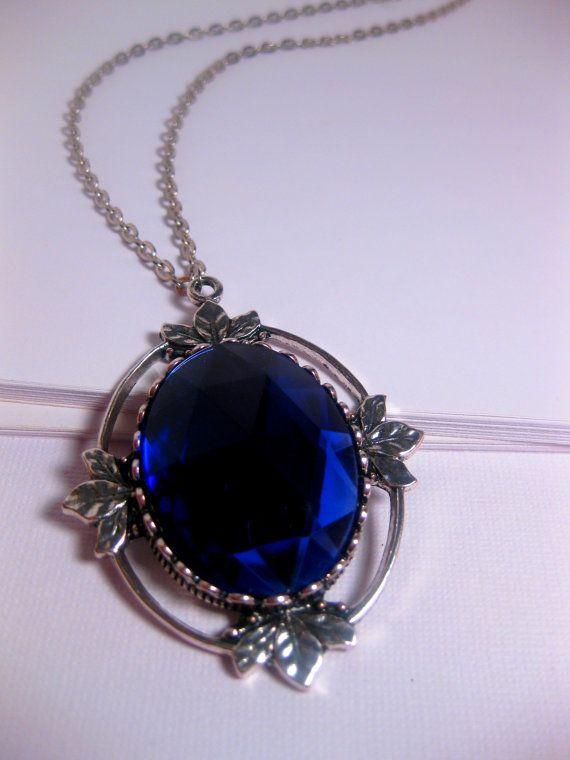 Blueberry Large Crystal Pendant Necklace by FashionCrashJewelry, $22.50