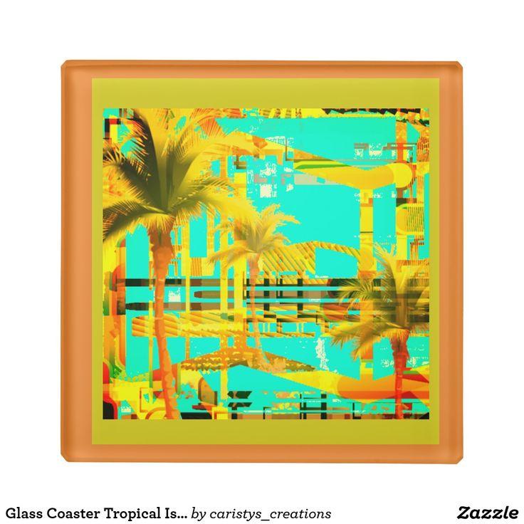 Glass Coaster Tropical Islands