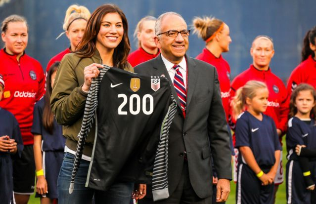 Hope Solo ripped new US Soccer president Carlos Cordeiro in her pre-election speech