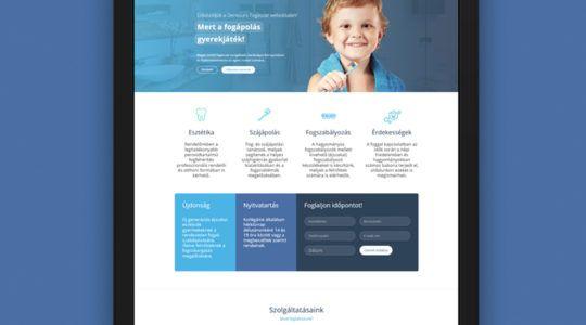 Responsive Web Design for Dentistry | Fogászati reszponzív webdesign terv