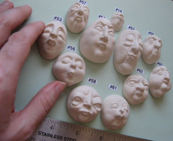 YOUR CHOICE Food Grade Silicone Doll Face Cabochon Casting