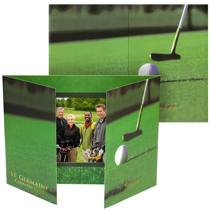 Golf theme folders for horizontal 4x6 prints at your golf