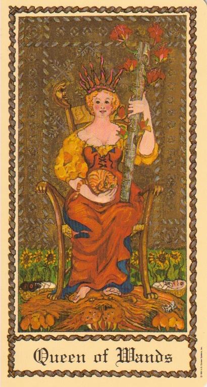 Queen of Wands - Medieval Scapini Tarot