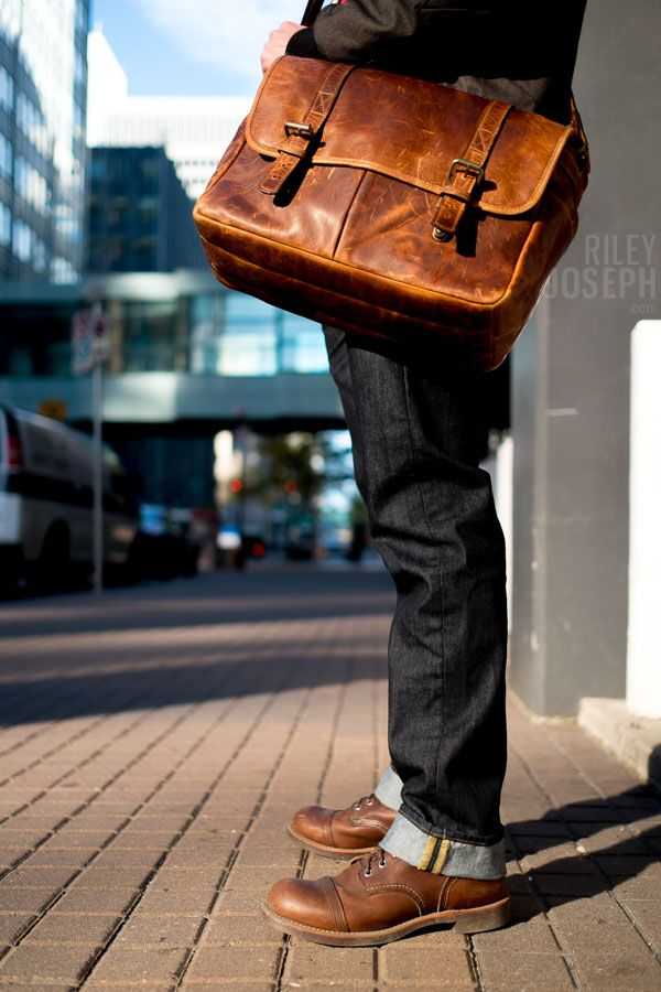 ONA bag + Red Wing Boots = Hipster Paradise {Photo by Curtis Gee}