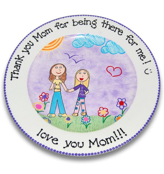 My Little Masterpiece  - Your child's drawing reproduced on a ceramic plate.