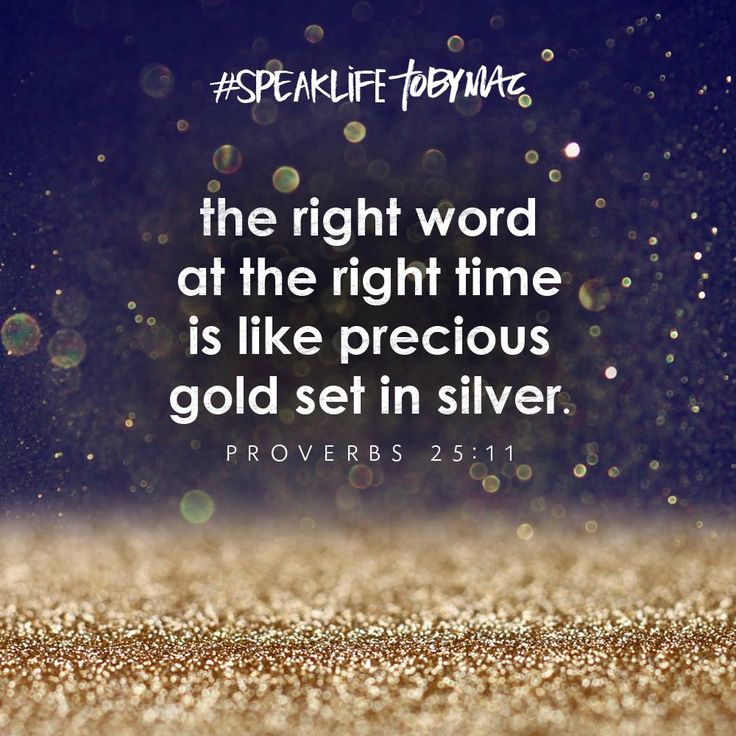Bible Quotes About Life: Speak Life, Toby Mac