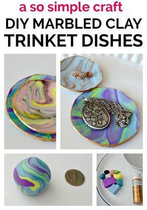 copy craft marbled clay dish