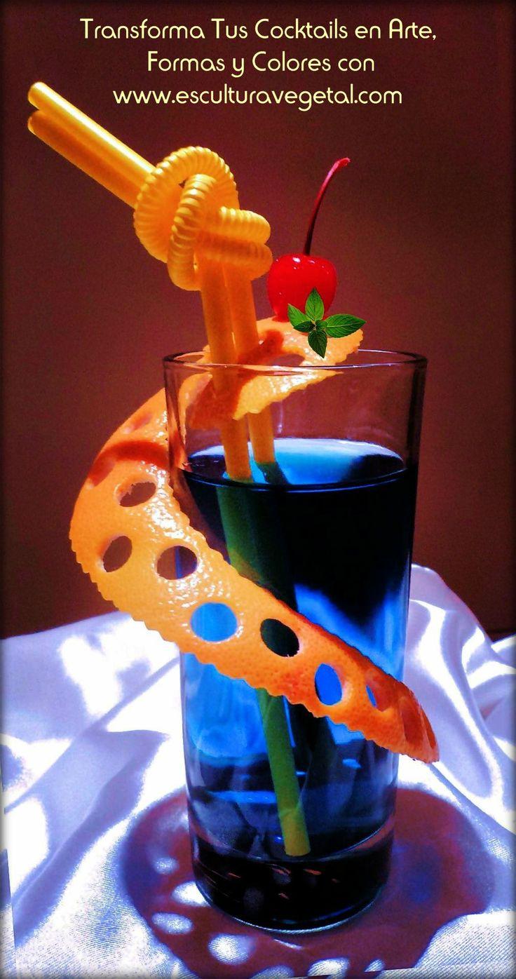Decora Tus Cocktails en Forma Rápida y Original con las Herramientas de www.esculturavege... ¡ Nuestra meta es proporcionarte los recursos que necesites para el éxito en tus presentaciones de cocktails, platos y buffets! www.esculturavegetal.com