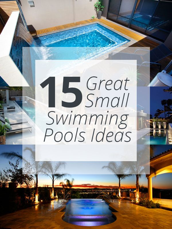 15 great small swimming pools ideas home design swim Great pool design ideas
