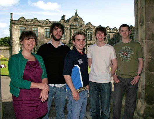 The sabbatical team 2009-2010. From L-R Georgina Rannard, Andrew Keenan, Sam Roberts, Matthew Guest and Phil Pass. Credit: Oli Walker