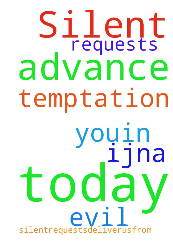 Silent requests today, Lord -  Lord, I ask silentrequests.Deliverusfrom temptation amp; evil. Thank Youin advance amp; for today, IJNA  Posted at: https://prayerrequest.com/t/zji #pray #prayer #request #prayerrequest