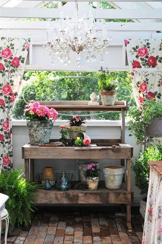 Garden shed w/ chandelier; Heather Bullard photo