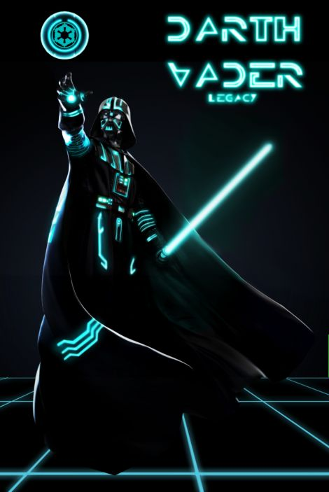 "Darth Vader ""TRONed"": Geek, Star Wars Vader, Wars Darth, Stars Treks Wars Films, Vader Troned, Darth Vader Anakin, Darth D, Starwars, Darth Vader Sherlock"