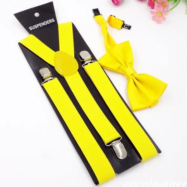 17colors Men's suspenders 2.5cm width 4 clips no cross and Unisex Braces women suspender black for adult #suspenders