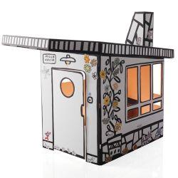 Magis Me Too Villa Julia Speelhuis  Decoreer je eigen villa! Het kartonnen speelhuis Villa Julia van Magis Me Too is een sprookjesachtig huisje om in te spelen. Decoreer de villa met de bijgeleverde stickers of ga aan de slag met kleurtjes en verf.