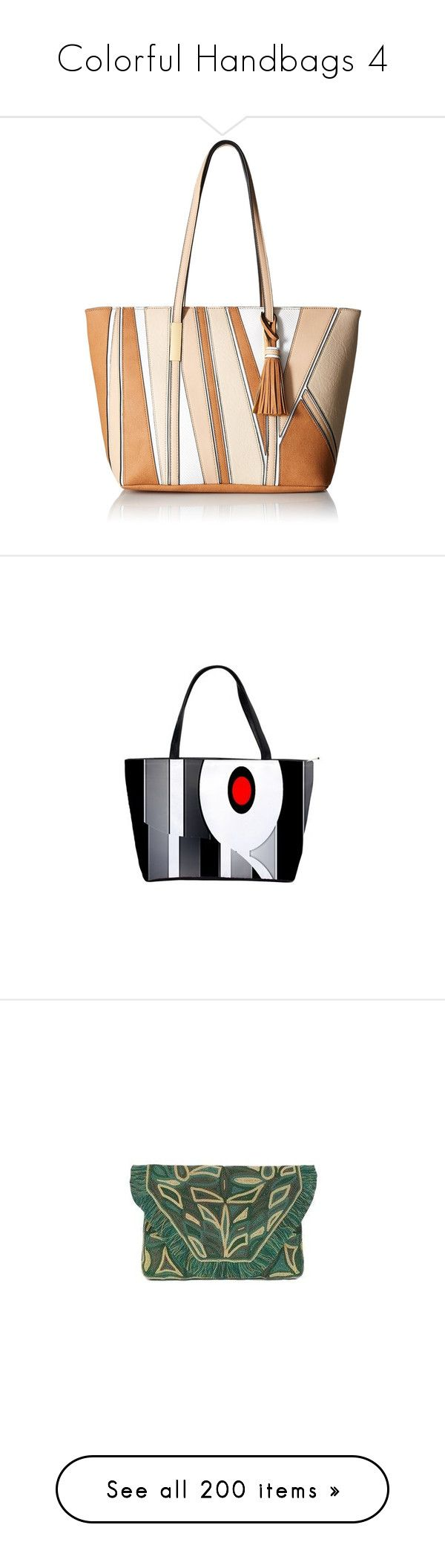 """Colorful Handbags 4"" by franceseattle ❤ liked on Polyvore featuring bags, handbags, tote bags, white tote purse, color block tote bags, color block tote, color block purses, aldo tote, shoulder bags and white hand bags"