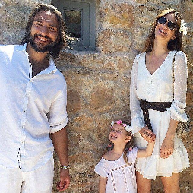 Our little family in june 2015 #formentera #soblessed / My Dress is AVAILABLE @ #boutiquebelgique #lenaterlutter