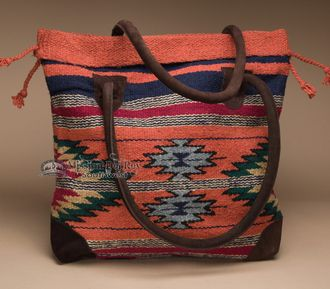 Southwestern Rug Style Tote Bag 17x17 (mont-a)