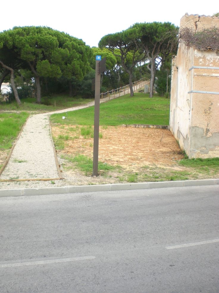 New path by the side of the newly boarded-up shepherds hut, on the way to Julia's Beach Vale do Lobo, October 2014