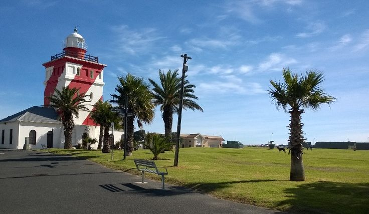The Mouille Point lighhouse in Cape Town, on the Mouille Point beachfront