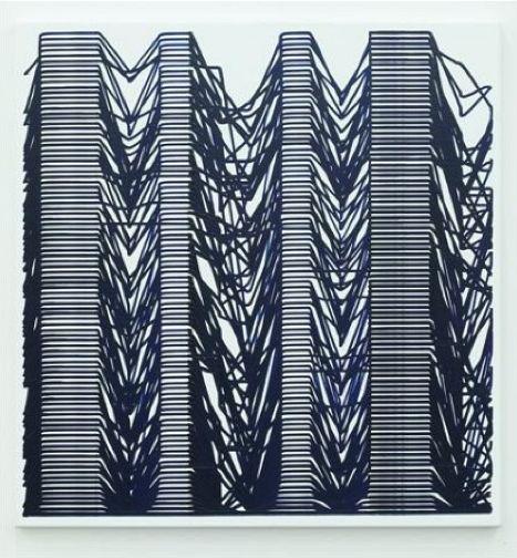 Simon Ingram, Rosnay, 2011, oil on canvas, 970 x 1020 mm
