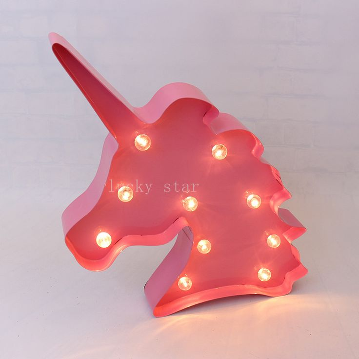 12inch  LED Marquee Sign metal Unicorn shape  Indoor room Deration  #Affiliate