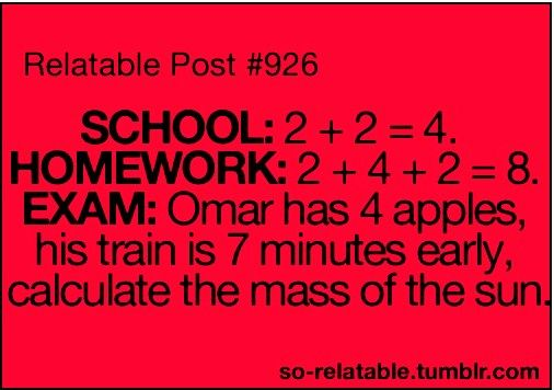 Sooo true =]: Laughing, Quotes, Schools, Funny, Words Problems, Math Class, So True, Truths, True Stories