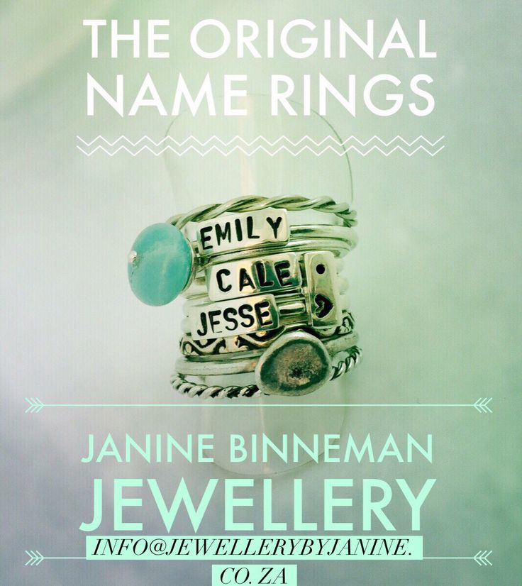Our stacking name rings! Make the design your own!
