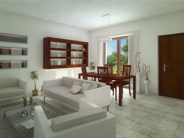 Render Architettonico Interni 3D per Brochure vendita e sito web