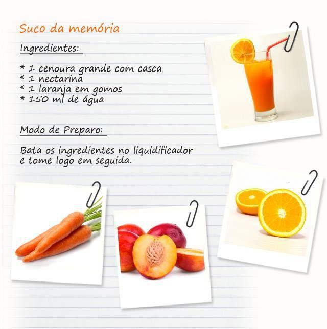 #Receita de #suco bom para a #memória. Saiba como fazer mais coisas em http://www.comofazer.org