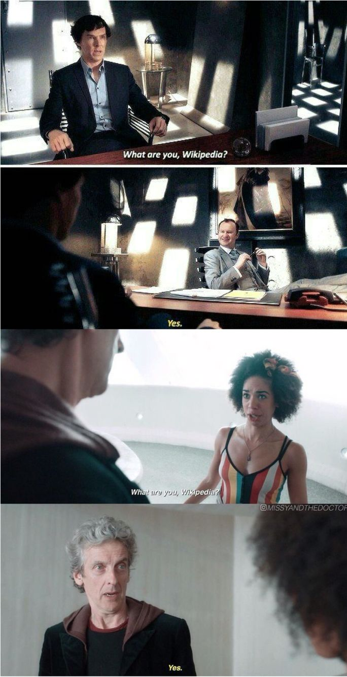 like this post? check out my wholock board! (Ivy L) Wikipedia. Wholock Sherlock Doctor Who Twelfth Doctor Peter Capaldi Bill Potts Pearl Mackie Smile Series 10 Sherlock Holmes Benedict Cumberbatch Mycroft Holmes Mark Gatiss Series 4