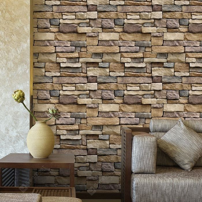 Simulation Waterproof Three Dimensional Brick Sticker Sale Price Reviews Gearbest Mobile In 2020 Wall Stickers Brick Wall Stickers Wallpaper Brick Wall Wallpaper