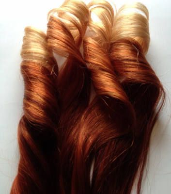 red ombre hair to copper 100 fashion hair and