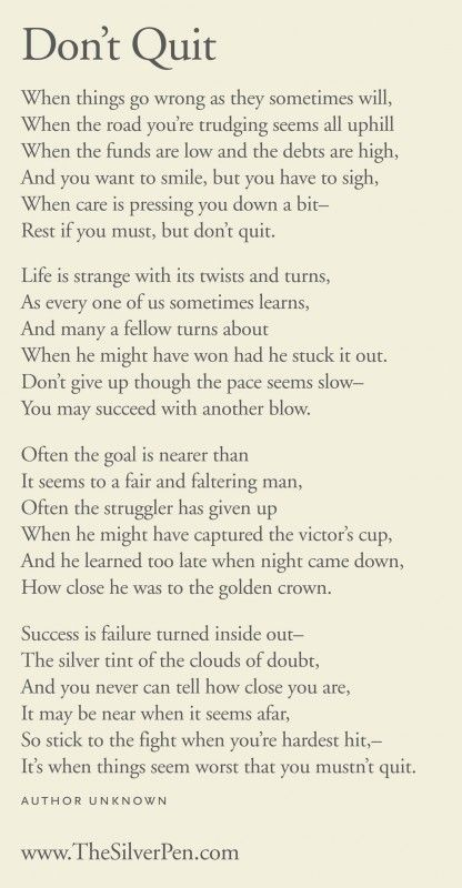 25+ best ideas about Inspirational poems on Pinterest | Quitting ...