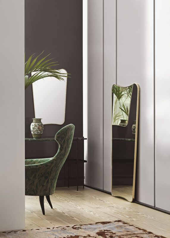 GUBI // F.A. 33 in both sizes and an Eva chair with  upholstery from Backhausen Jardin mirror gio ponti