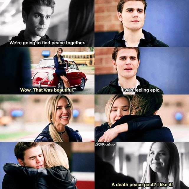 [5x22/8x16] STEFAN FOUND PEACE WITH HIS BEST FRIEND ❤️ this killed me