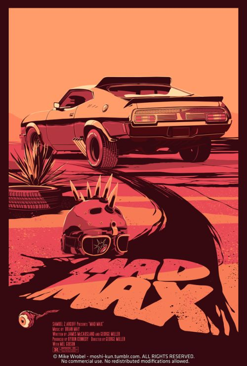 designersof:  MAD MAX (1979) While awaiting the release of the new exciting Mad Max movie with Tom Hardy, here's my version of the original one.^_^ Prints and tees: HERE STORE - FACEBOOK - TWITTER - DRIBBBLE ———————— get your work featured by submitting it to designersof.com click here to advertise with us.  this post is sponsored by bestedgesem.com