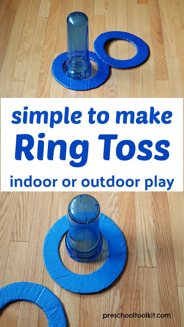 diy ring toss game for indoor or outdoor family fun