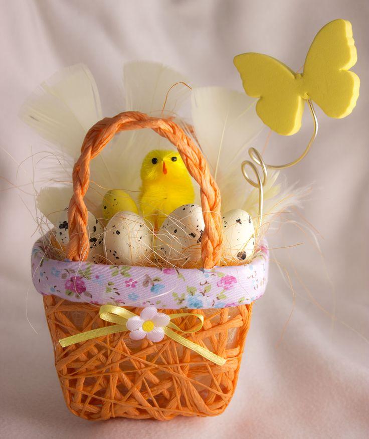 Húsvéti füles kiskosár (narancs)