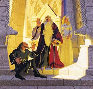 Tolkien Calendar Oct 1978 King Theodon and Wormtongue, Brothers Hildebrandt