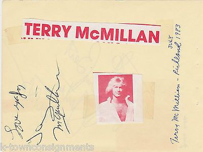 TERRY McMILLAN / JUSTIN TUBB COUNTRY MUSIC SINGERS VINTAGE AUTOGRAPH SIGNED PAGE