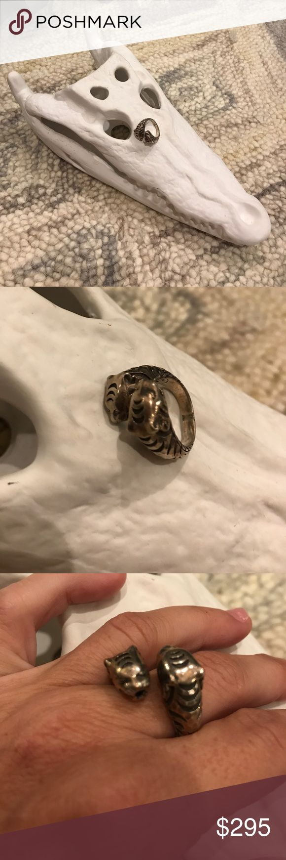 John Hardy Ring John Hardy's panther ring. (Need to be dipped for cleaning) guessing it's around a size 6 but I'm not definite. John Hardy Jewelry Rings