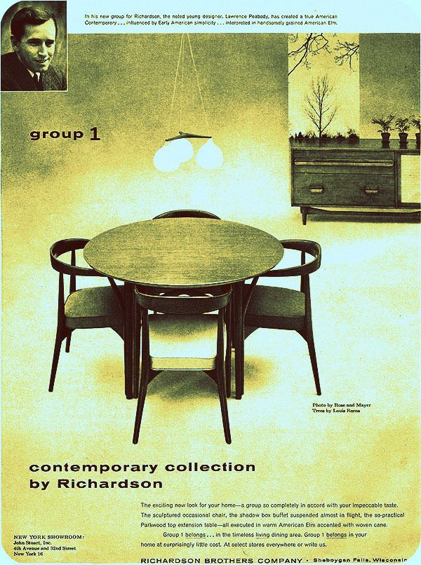 Magazine Ad For The Exact Dining Set! Lawrence Peabodyu0027s Contemporary  Collection   Mine Is Sold