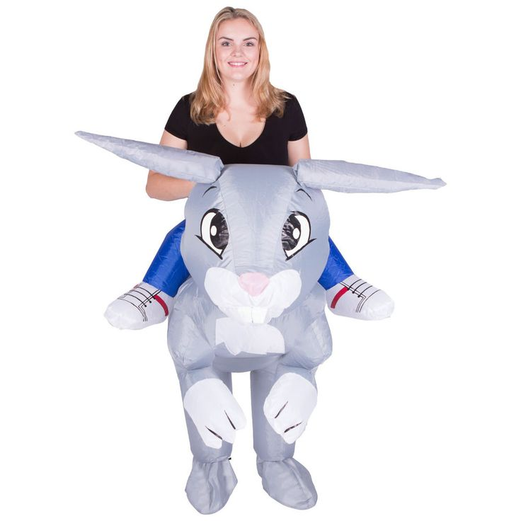 INFLATABLE RABBIT FANCY DRESS COSTUME ANIMAL SUIT HEN STAG OUTFIT